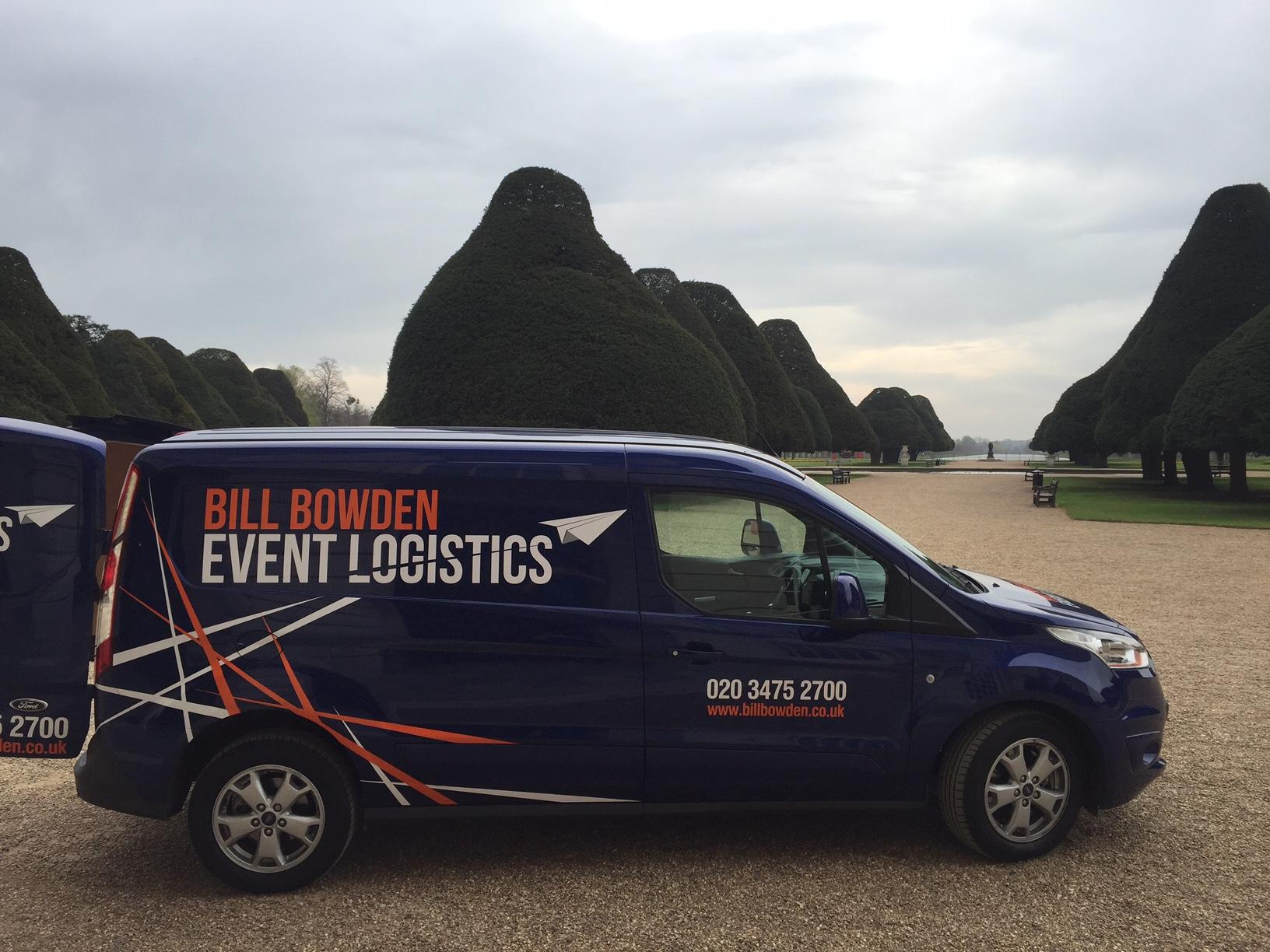 Bill Bowden Event Logistics van at Hampton Court