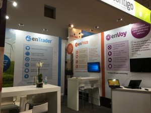 enTrader exhibition stand design and build by Bill Bowden logistics