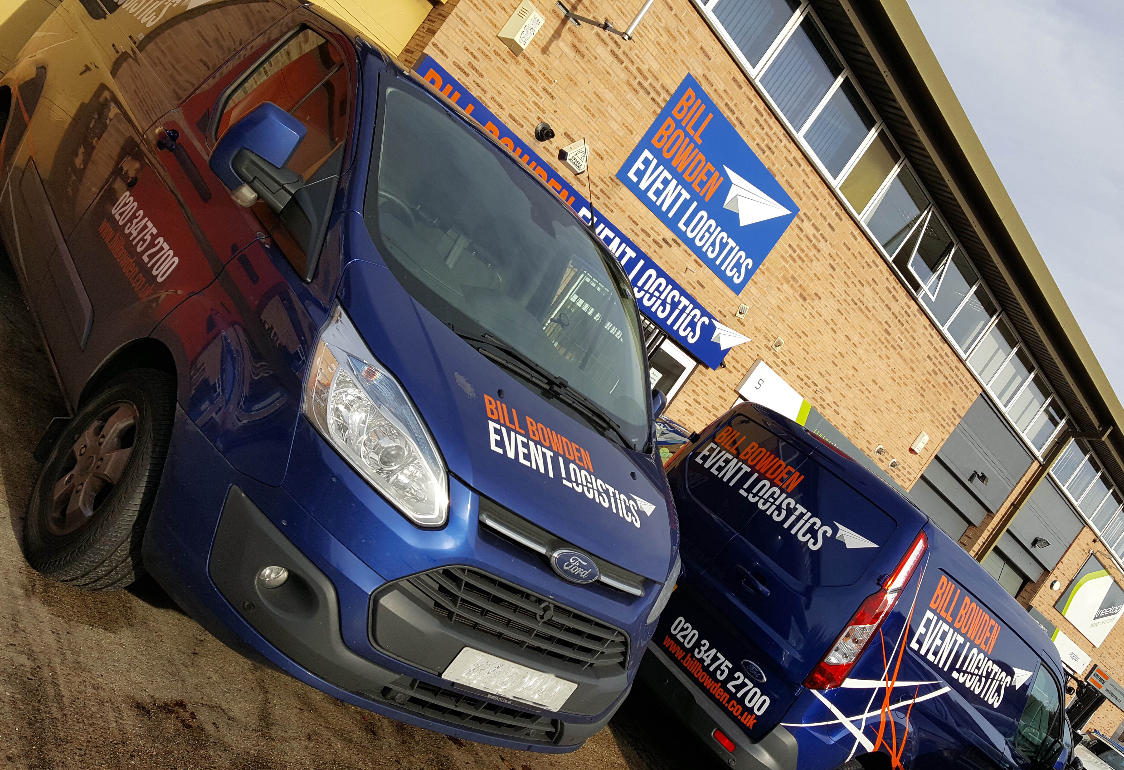 Exhibition courier services specialists Bill Bowden Event Logistics HQ