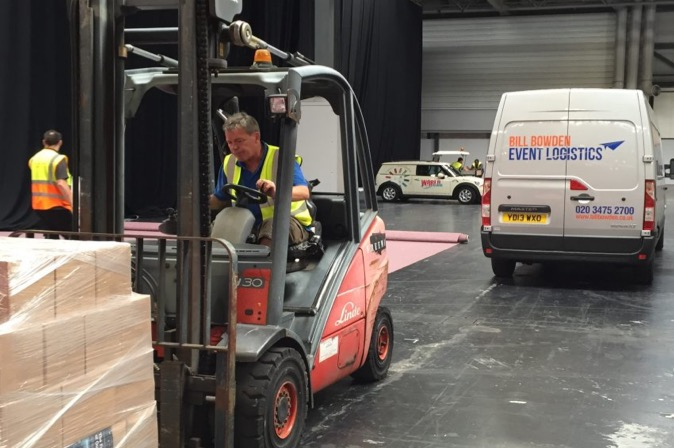 Fork Lift Truck Driver performing Drayage