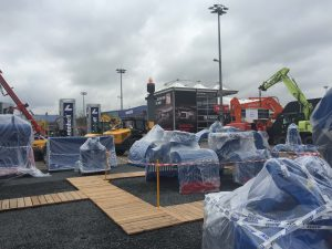 BAUMA Munich 1 - Carefully wrapped deliveries
