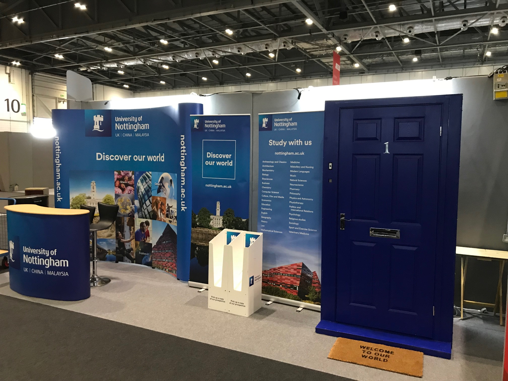 Nottingham University Exhibition Stand