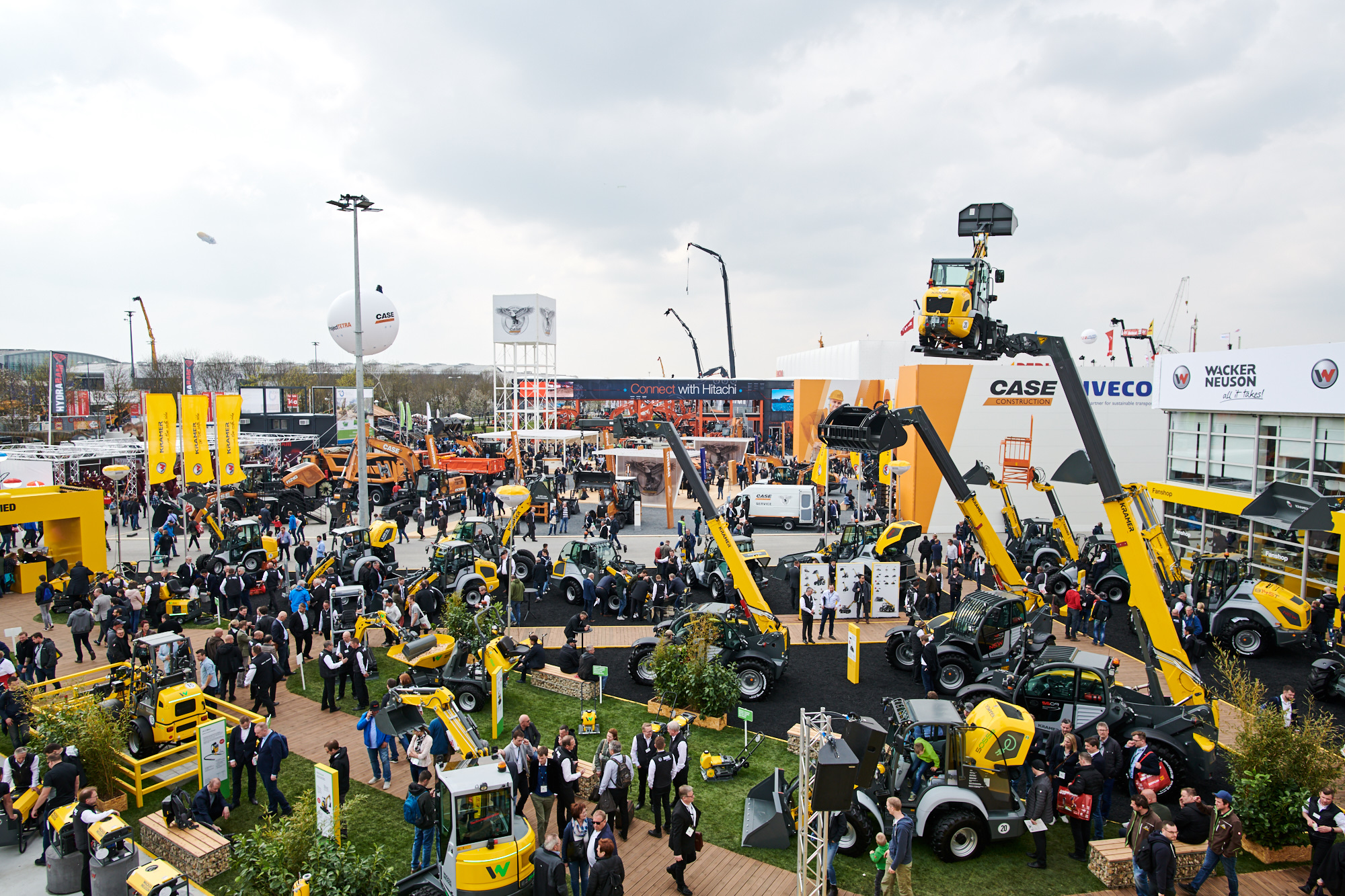 Bauma Munich External Area Crane Shot