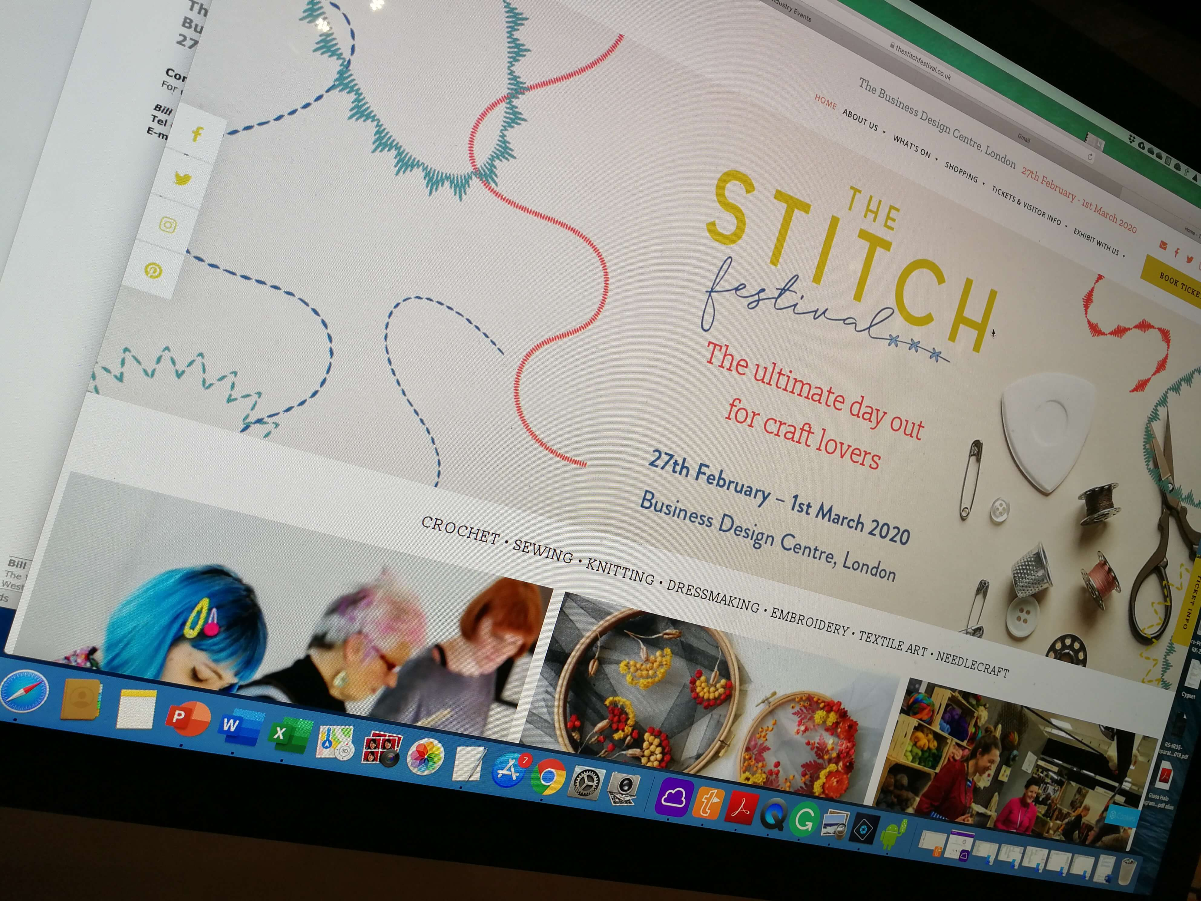Stitch Festival Screen Shot of Website